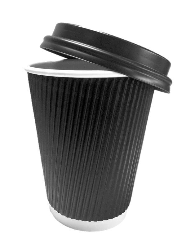Black Ripple Cup with lid